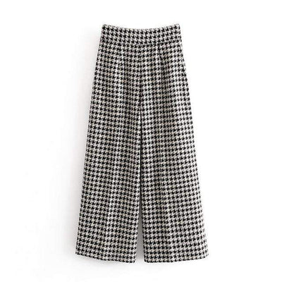 bohochicclothing Plaid Tweed Pants boho  chic clothing