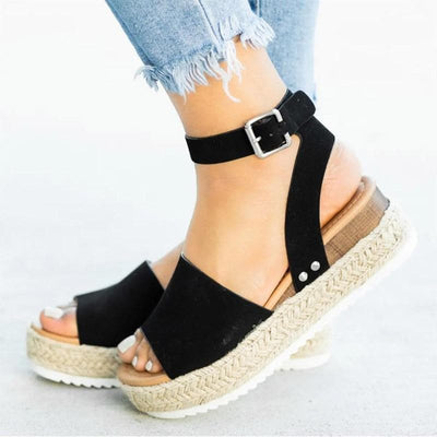 Ankle Strap Platform Sandals - Boho Chic Clothing