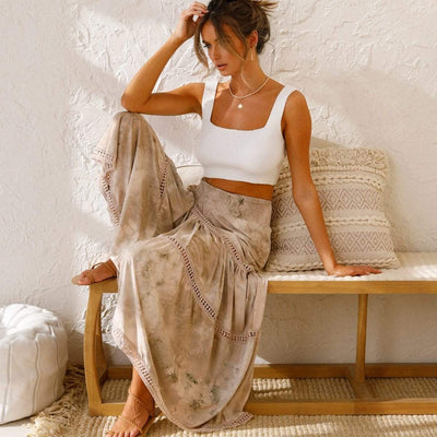 bohochicclothing Skirts BEACH BOHEMIAN MAXI SKIRT boho  chic clothing