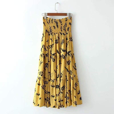 bohochicclothing Skirts Two Way Wear High Waist Skirt boho  chic clothing