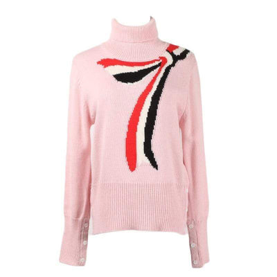 Slim Pink Knitted Sweater - Boho Chic Clothing