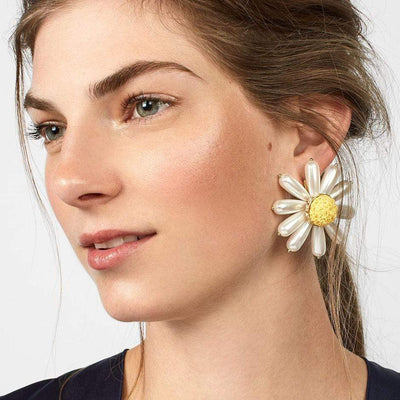 Daisy Earrings - Boho Chic Clothing