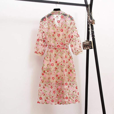 bohochicclothing Vests & Waistcoats VINTAGE EMBROIDERY TRENCH COAT boho  chic clothing
