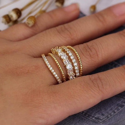 Huitan Layer Rings - BohoChic Clothing & Accessories
