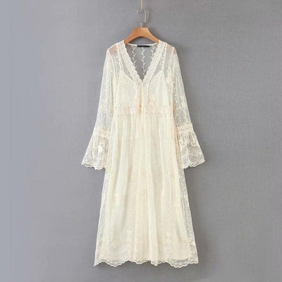 bohochicclothing white lace dress boho  chic clothing