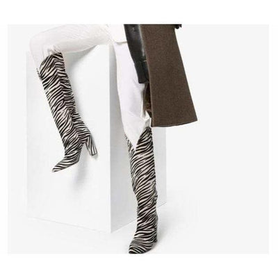 bohochicclothing ZEBRA PATTERN BOOTS boho  chic clothing