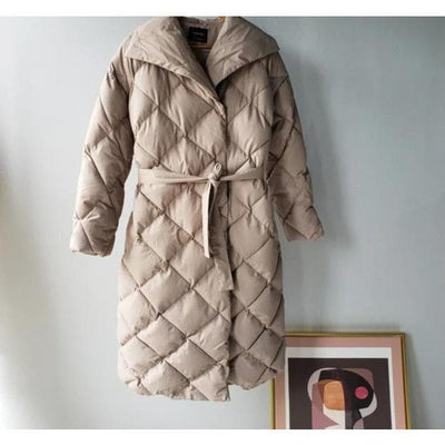 Warm Plaid Bubble Coat Puffer Jacket
