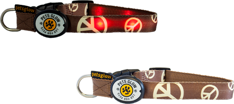 Peace LED Dog Collar
