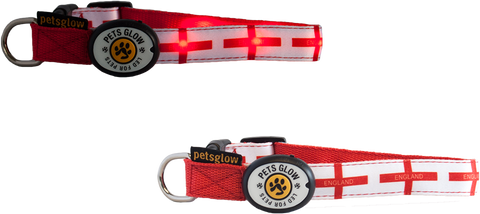 St. George's Cross LED Dog Collar