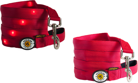 Outshined LED Dog Lead Red