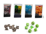 Dice 7pc - Multiple Colour Selection