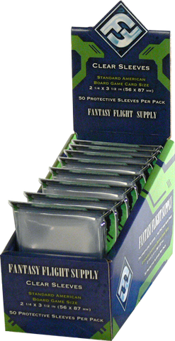 Fantasy Flight Clear Sleeves 41x 63mm (50 per pack)