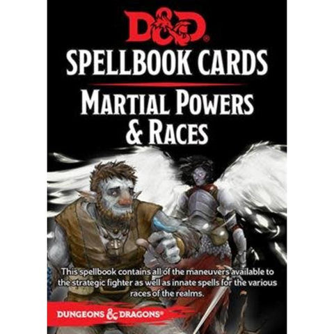 Dungeons & Dragons: Spellbook cards - Martial Power & Races