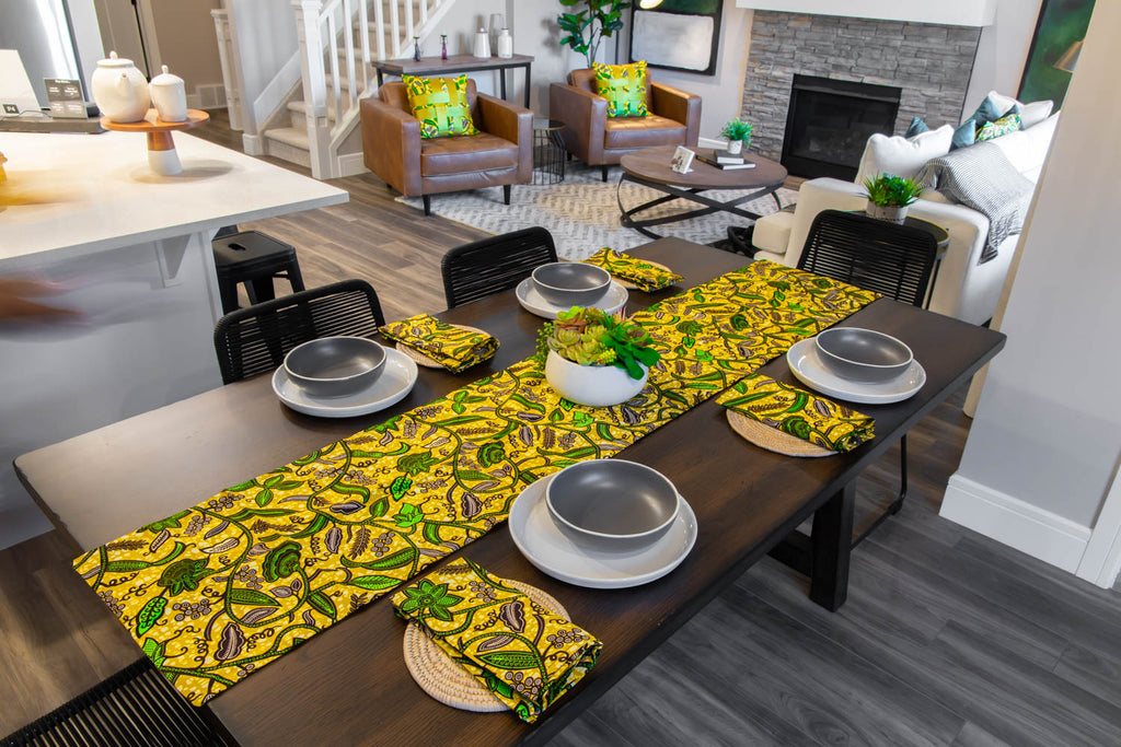 African Print Table Runner