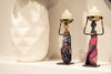 "African Tribal Lady Candle Holder Centerpieces (Aso-Oke) 9.5"" x 3"""