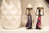 "African Tribal Lady Candle Holder Center Pieces (Small) 6.5"" x 2"""
