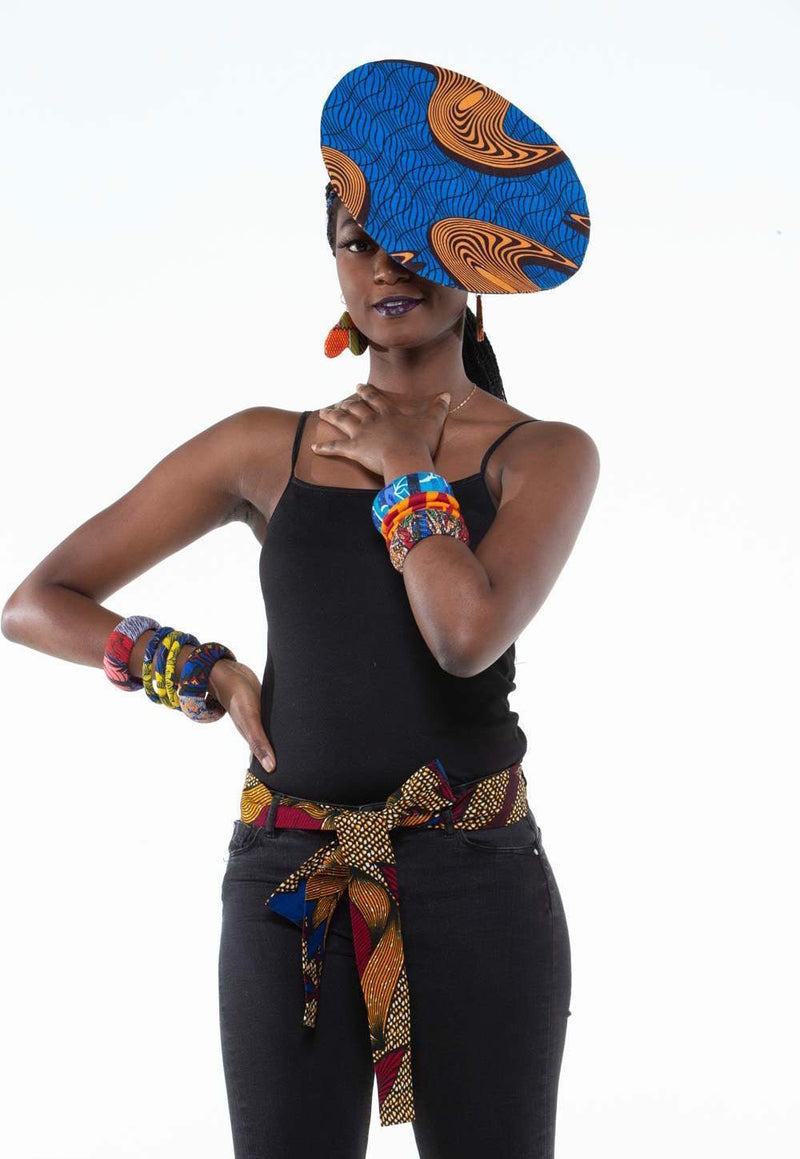 Uwu African Print Simple Belts
