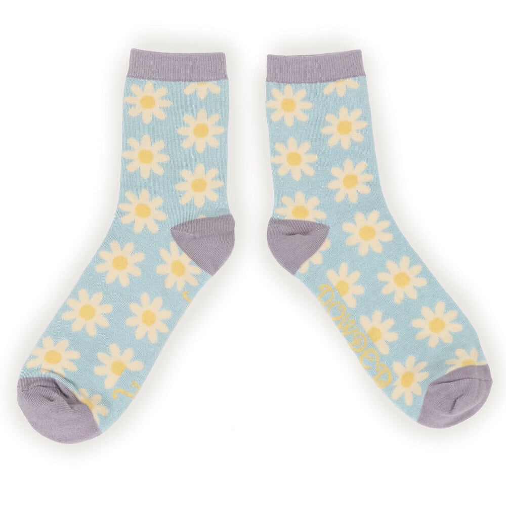 Women's Ankle Sock-Ice Daisy.