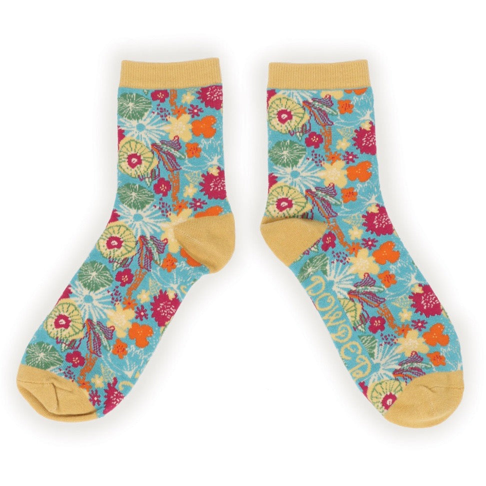 Women's Ankle Sock- Modern Floral