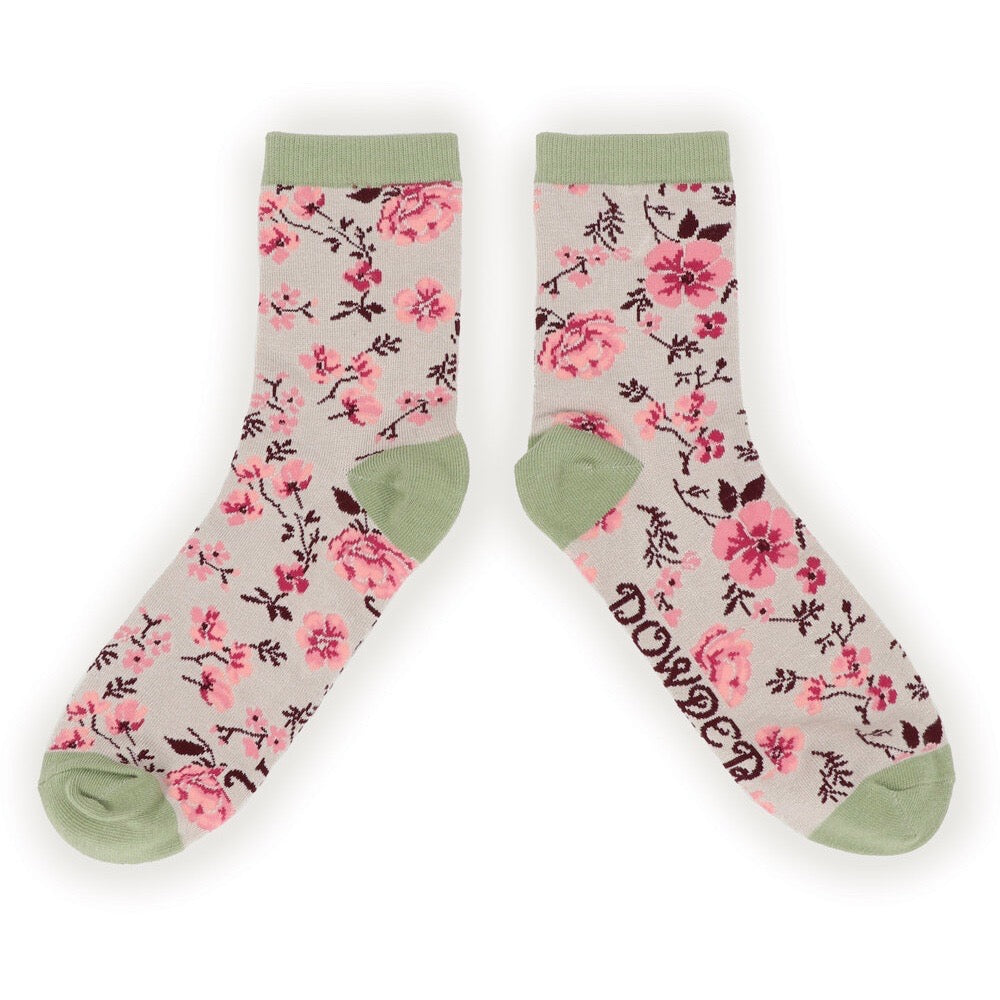 Women's Ankle Sock- Pink Blossom