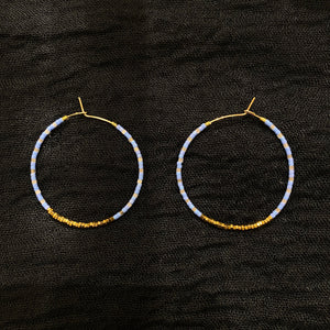 18k Gold Plated Hematite Earring - Skyler