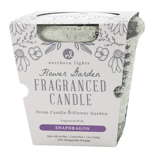 Snapdragon Flower Garden Candle 12oz WITH FLOWER SEEDS
