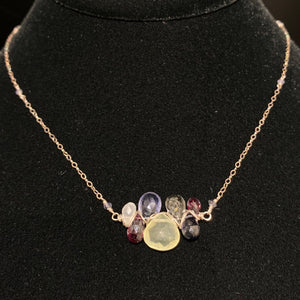 Gemstone Heart Cluster