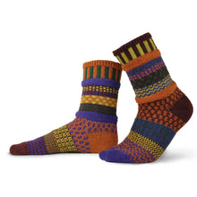 Load image into Gallery viewer, Solmate Socks: Fall Folliage Adult Crew