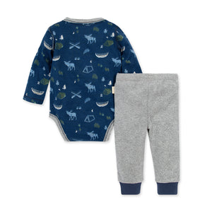 Organic Cotton Moose Trails Bodysuit & Pant Set