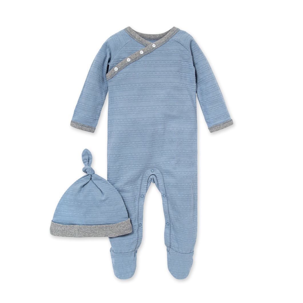 Organic Cotton Jumpsuit & Knot Hat Set