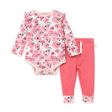 Load image into Gallery viewer, Organic Cotton Bold Blossoms Bodysuit & Pant Set