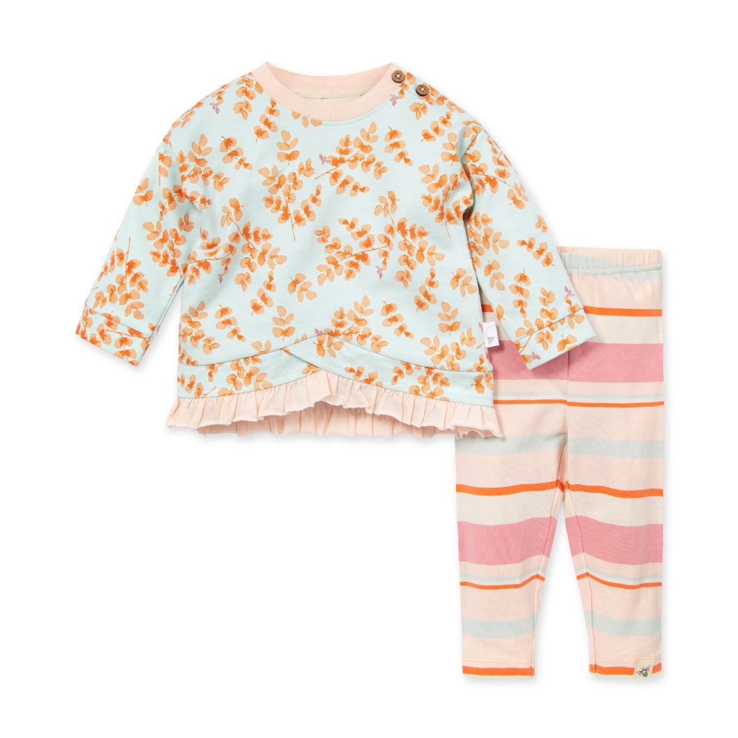 Organic Cotton Leaves & Twigs Tunic & Legging Set
