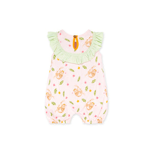 Curious Sloth Bubble Romper, Dawn