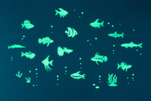 Load image into Gallery viewer, GLOPLAY Glow in the Dark Stickers: Tropical Fish