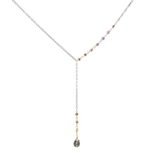 Load image into Gallery viewer, Pyrite Droplet Necklace