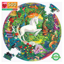 Load image into Gallery viewer, Unicorn Garden 500pc Round Puzzle