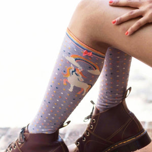 Women's Knee Sock- Unicorn