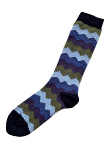 Alpaca Sock: Mountain Stripe