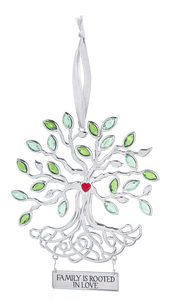 Family Tree of Life Metal Ornament