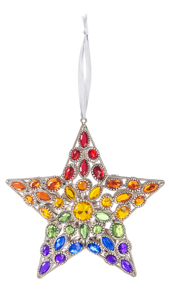 Rainbow Star Jewel Suncatcher