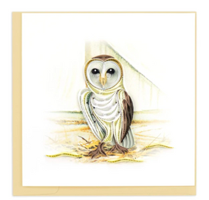 Barn Owl Quilled Card