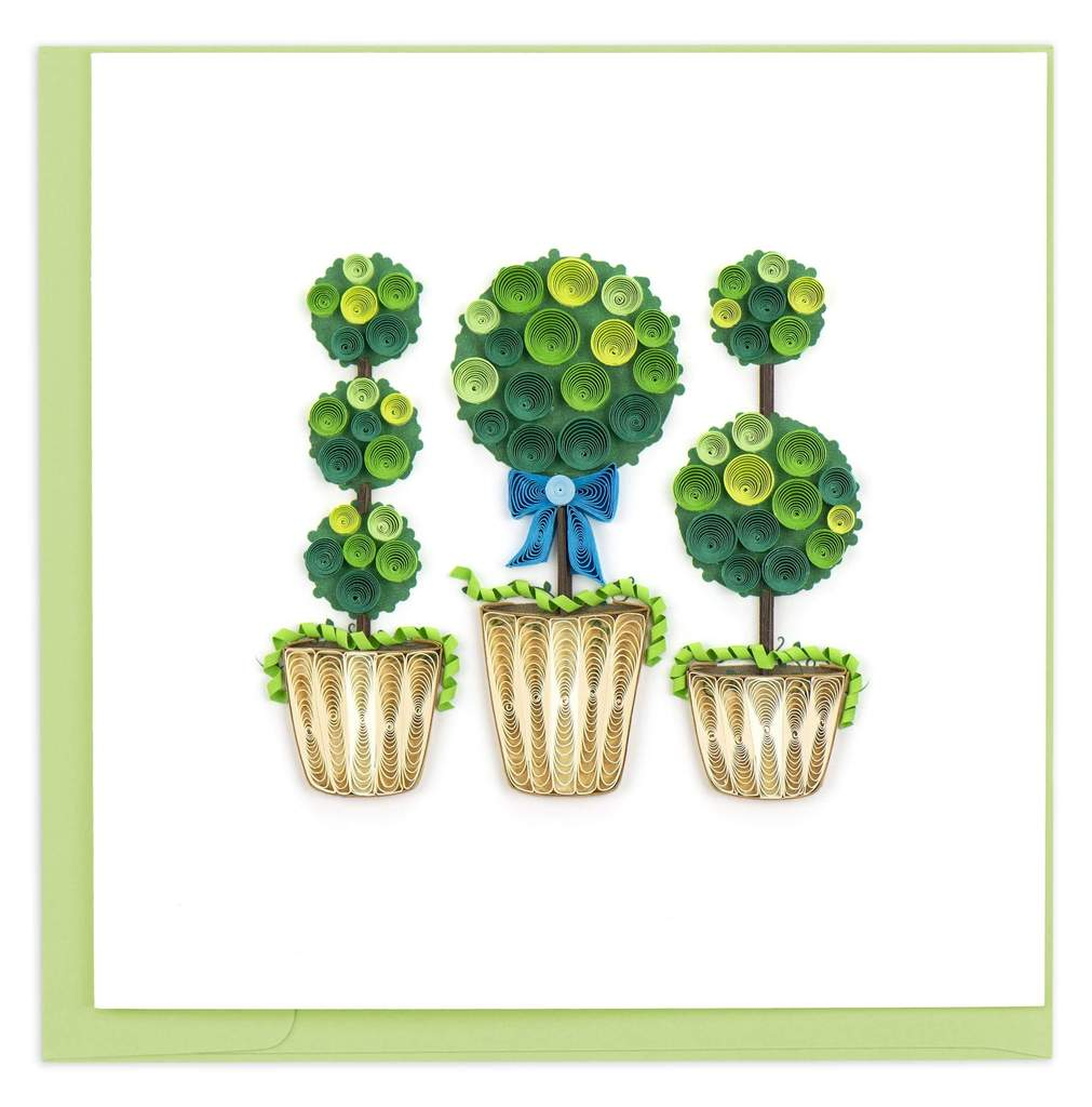 Topiary Quilled Card