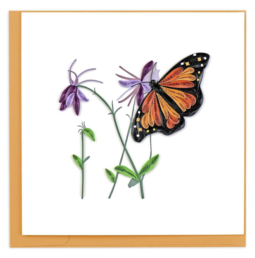 Monarch Butterfly Quilled Card