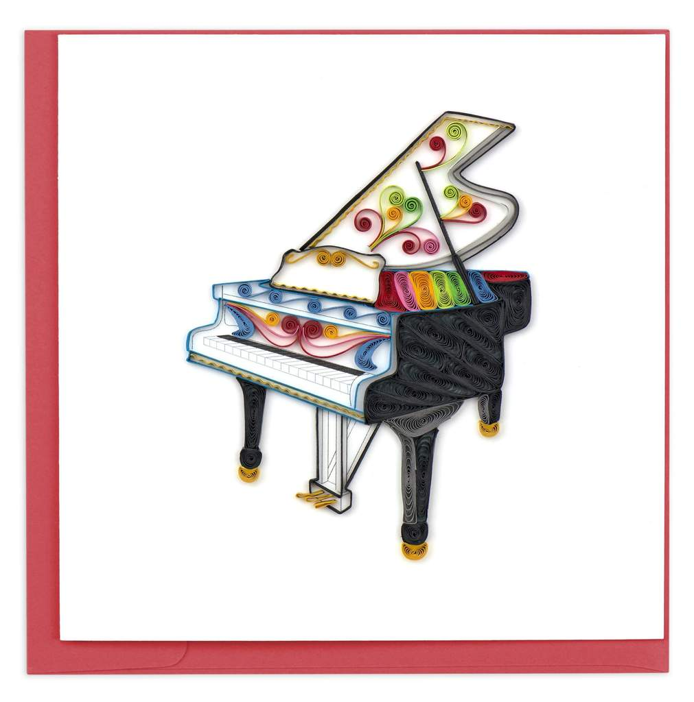 Grand Piano Quilled Card