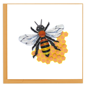 Honey Bee Quilled Card