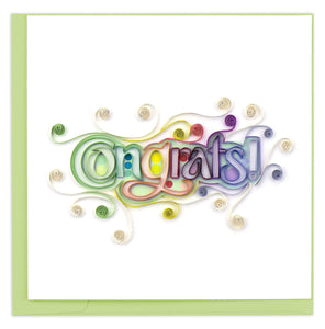 Congrats Quilled Card