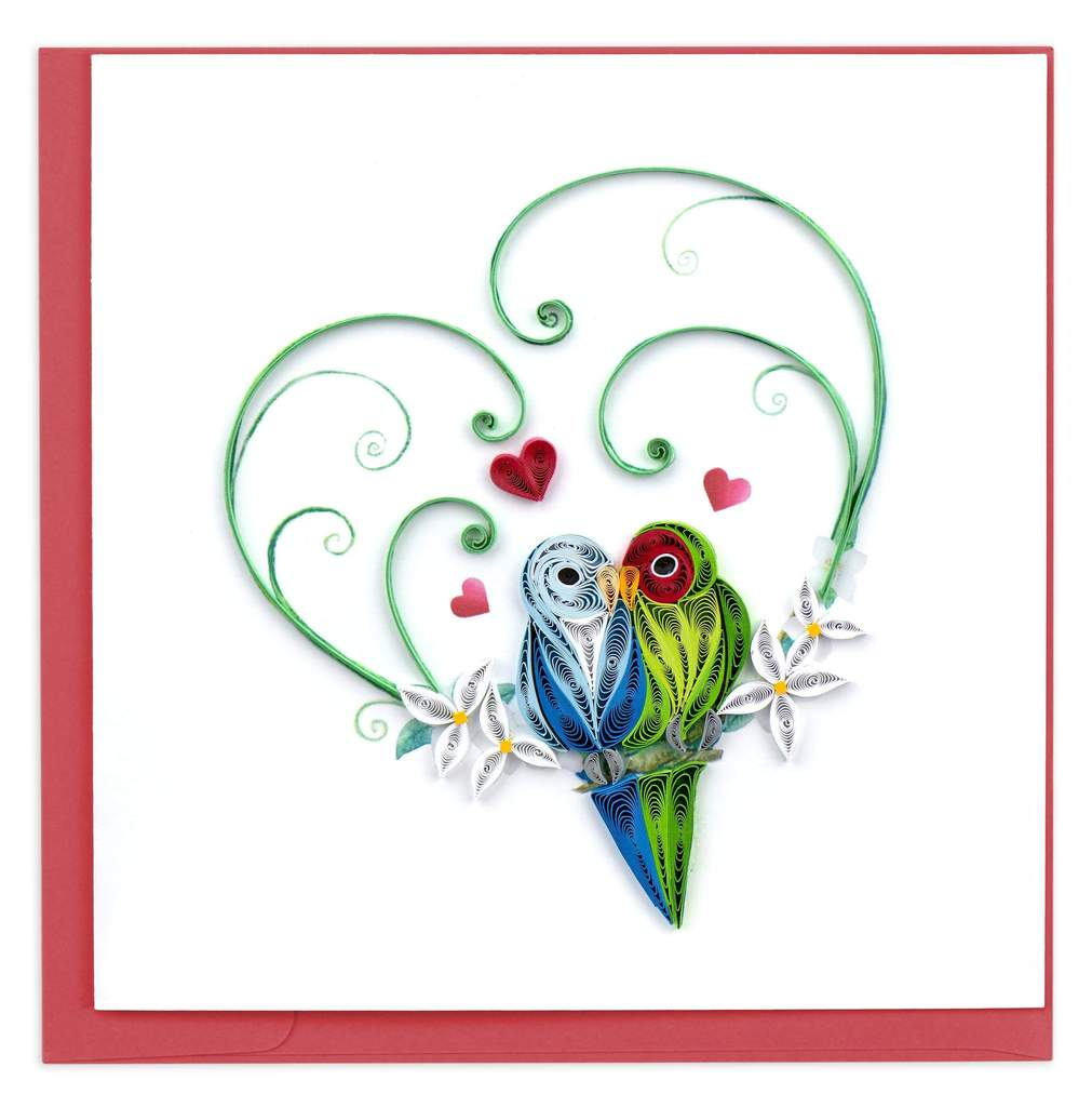 Love Birds Quilled Card