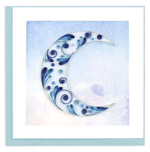 Crescent Moon Quilled Card
