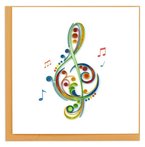 Treble Clef Quilled Card
