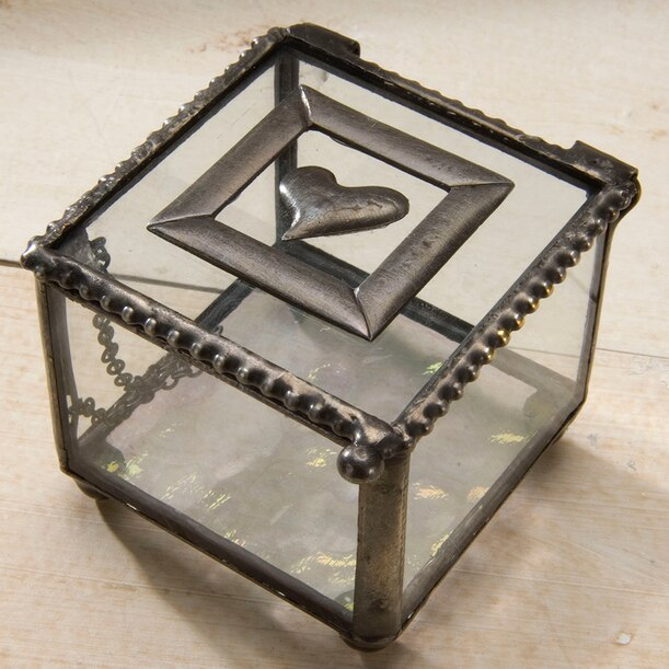 Small Glass Box with Heart